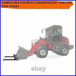 1500lb/4000lb Tractor Pallet Forks Bucket Clamp On 43/60 For Skid Steer Loader