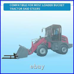 1500lbs 60 Pallet Fork Skid Steer Loader Bucket Clamp on Tractor Stabilizer Bar