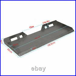 1/2 thick Skid Steer Mount Plate Adapter Loader Quick Tach Attachment