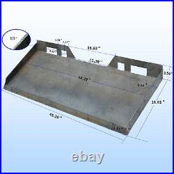 1/4 5/16 3/8 1/2 Skid Steer Loader Mount Plate Quick Tach Attachment Heavy