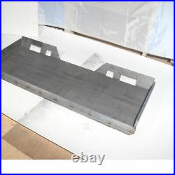 1/4 5/16 3/8 1/2 Skid Steer Mount Plate Adapter Loader Quick Tach Attachment