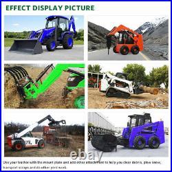1/4 Skid Steer Loader Mount Plate Tractor Quick Ttach Adapter For Kubota Bobcat