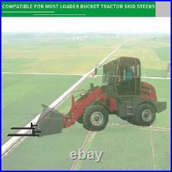 2000lb 4000lb Tractor Pallet Fork Bucket Clamp on Skid Steer Loader 43'' 60'