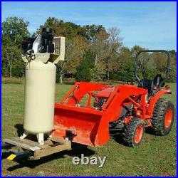 2000lb 43 Tractor Clamp on Pallet Forks Skid Steer Loader Bucket Quick Attach