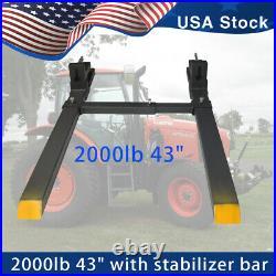 2000lb Tractor Pallet Forks Bucket Forks Clamp On For Backhoe/Skid Steer Loader