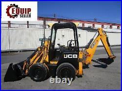2011 JCB ICX Diesel Backhoe Skid Steer Loader Mini Excavator 4x4 4in1 Bucket