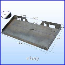 3/8 Mount Plate Skid Steer Loader Attachment Adapter for Bobcat Kubota Heavy