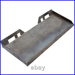 3/8 Skid Steer Loader Mount Plate Tractor Quick Attach Attachment Adapter Steel