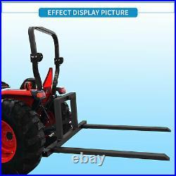 3 Point Forks Cat 1 Tractor Hitch Skid Steer Loader Adjustable Pallet Forks