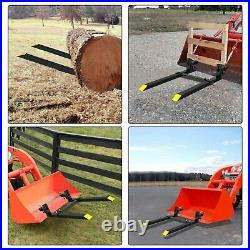 4000Lbs 60'' Tractor Pallet Forks Clamp on Skid Steer Loader Bucket Quick Attach