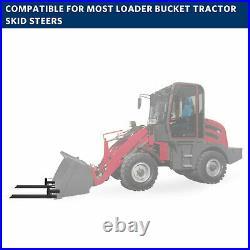 4000lb/1500lb Tractor Bucket Forks Bolt On Pallet Fork Skid Steer Loader 60/43