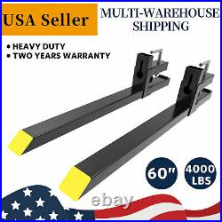 4000lb Clamp On Forks Skid Steer Loader Tractor 60 Quick Attach Bucket Fork HD