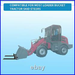 4000lb Pallet Forks 60 Clamp Skid Steer Attachment Loader Tractor Bucket Forks
