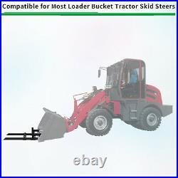 4000lbs Pallet Forks Clamp On Bucket Forks 60 For Skid Steer Loader Tractor