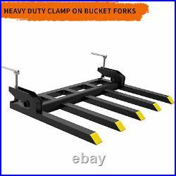 42 Clamp on Debris Forks for Tractor Skid Steer Loader Buckets Pallet Forks