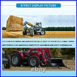 43 60 Tractor Pallet Forks Skid Steer Loader Bucket Clamp Forks 1500lb 4000lbs