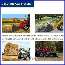 43 inch Clamp on Pallet Forks 1500 LB for Loader Bucket Skid Steer Tractor