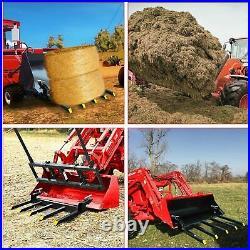 48 Clamp Debris Forks Tractor Skid Steer Loader Bucket Pallet Forks Heavy Steel