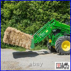 49 Dual Hay Bale Spear Skid Steer Loader Bucket Attachment for Loader Tractor