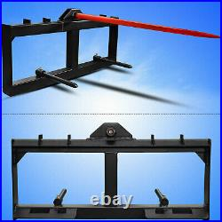 49 Tractor Hay Spear Skid Steer Loader Quick Attach for Bobcat Tractor 3000lbs