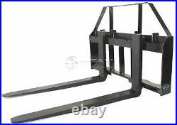 60 Root Grapple Bucket & 42 HD Pallet Forks Package Skid Steer Loader Tractor