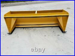 7' XP30 CAT YELLOW SNOW PUSHER With PULLBACK BAR- Skid Steer Loader FREE SHIPPING