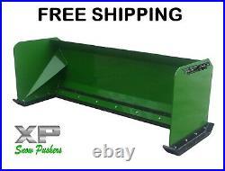 7' XP30 John Deere snow pusher box skid steer loader tractor FREE SHIPPING