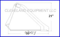 84 LOW PROFILE TOOTH BUCKET Skid Steer Loader Attachment Industrial Dirt Teeth