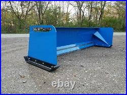 8' XP24 BLUE SNOW PUSHER Skid Steer Loader FREE SHIPPING