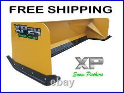 8' XP24 CAT YELLOW TURF PUSHER- Skid Steer Loader- FREE SHIPPING