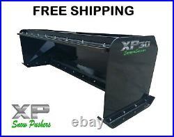 8' XP30 BLACK SNOW PUSHER WithPULLBACK BAR Skid Steer Loader FREE SHIPPING