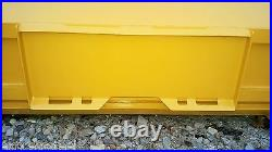 8' XP30 CAT YELLOW SNOW PUSHER WithPULLBACK BAR -Skid Steer Loader FREE SHIPPING