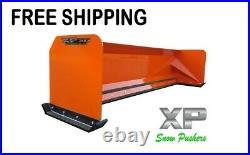 8' XP30 KUBOTA ORANGE SNOW PUSHER Skid Steer Loader FREE SHIPPING