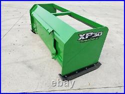 8' XP30 Pullback John Deere snow pusher skid steer loader tractor-FREE SHIPPING