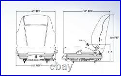 Air Suspension Seat Case Skid Steer, Excavator, Dozer, Tractor, Forklift, Loader