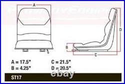 Black Seat for BOBCAT Skid Steer Loader 730 731 732 741 743 825 843 970 974 975