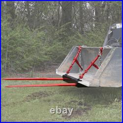 Bucket Dual 49 Hay Bale Spear Attachment Front Loader Tractor Skid Steer Deere