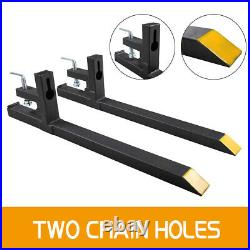 Clamp on Pallet Forks Loader Bucket 2000 LBS Capacity Skid Steer Tractor Chain