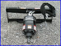 Danuser 1025 PRO Series Hex Auger Drive with 12 Dirt Bit Fits Skid Steer Loader