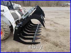 Es 66 Grapple New Skid Steer Quick Attach Brush Grapple Tractor Loader