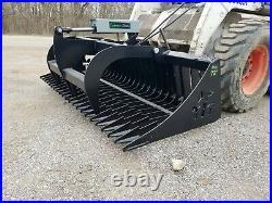 Es 72 Rock Bucket Grapple Skid Steer Quick Attach Loader Tractor Local Pickup