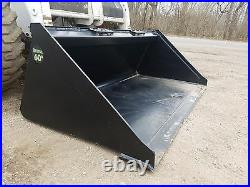 Es New 60 Smooth Bucket Skid Steer Quick Attach Loader Tractor Local Pick Up