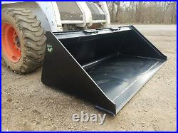 Es New 66 Smooth Bucket Skid Steer Quick Attach Loader Tractor Free Shipping