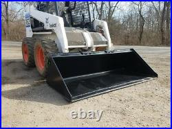 Es New 78 Smooth Bucket Skid Steer Quick Attach Loader Tractor Local Pick Up