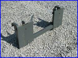 Global Euro Quickie Tractor Loader to Skid Steer Quick Attach Adapter Conversion