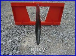 Hay Bale Spear Attachment Fits Kubota Quick Attach Loader Skid Steer Heavy Duty
