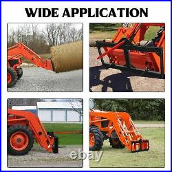 Hay Bale Spear Skid Steer Loader Tractors Quick Tach Attachment Moving Hitch 49