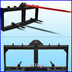 Hay Bale Spear Tractor Skid Steer Loader Attachment 3-Tine Spear Quick Attach