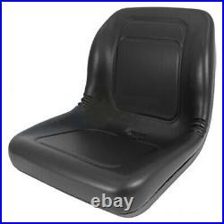 Lawn Garden Mower Seat BLACK Fits Kubota Compact Tractor Skid Steer Loader UTV