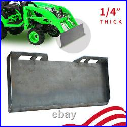 Mount Plate 1/4 Skid Steer Tractor Adapter Loader Quick Tach Attachment Steel